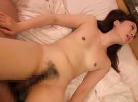 Japanese AV Model is glad to get cum on tits after deep frigging