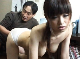 Japanese AV Model has ear bitten while having boobies caressed