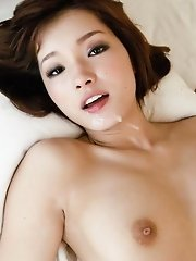 Innocent Mei Haruka's trimmed pussy split by cock